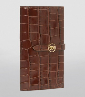 Burberry Leather Croc-Embossed Wallet