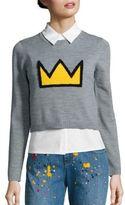 Alice + Olivia X Basquiat Nikia Crown Layered Pullover