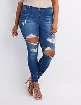 Charlotte Russe Plus Size Refuge Hi-Rise Destroyed Skinny Jeans