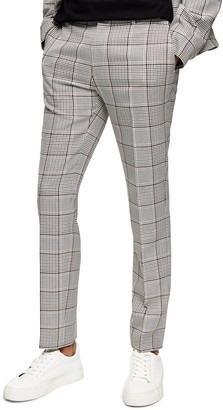 Topman Mitch Plaid Skinny Fit Pants