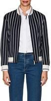Thom Browne Women's Cutwork-Embroidered Wool-Cotton Varsity Jacket