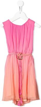 Chloé Kids Silk Belted Dress