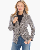 Chico's Faux-Suede Animal-Print Blazer