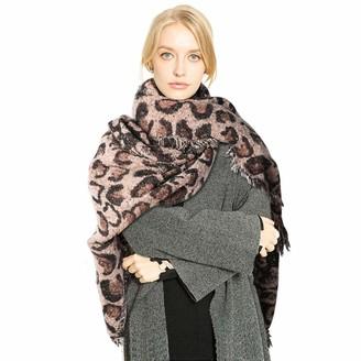 Superora Women Scarf Blanket Wrap Shawl Leopard Print Large Long Animal Print Soft Warm 220 * 65cm
