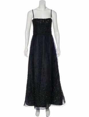 J. Mendel Beaded Sleeveless Gown black