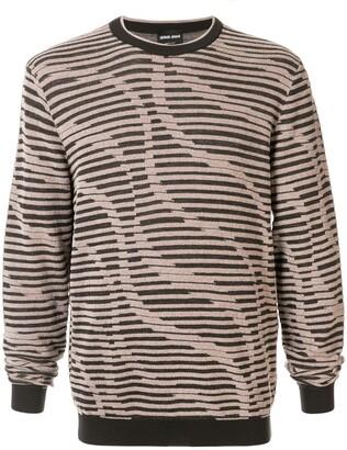 Giorgio Armani Stripe Knitted Jumper
