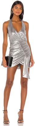superdown Alycia Halter Drape Dress