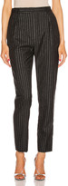 Saint Laurent Striped Tailored Pant in Black & Silver | FWRD