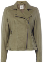 Tu clothing Green Faux Leather Quilted Jacket