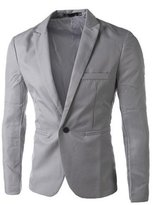 Hittime TR.OD 1x New Stylish Men's Blazer Coat Jacket Office Slim Fit One Button Suit Formal