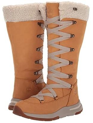 Timberland Mabel Town Tall Mukluk Waterproof Boot (Wheat Nubuck) Women's Boots