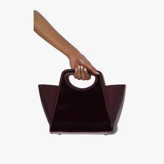 Elleme Burgundy Cupidon medium leather tote bag