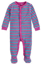 Petit Lem Cotton Striped Crewneck Footie
