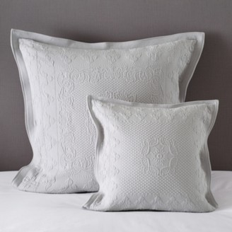 The White Company Vintage Etienne Cushion Cover, Grey, Large Square