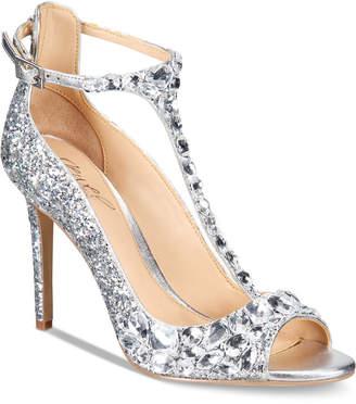 Badgley Mischka Conroy T-Strap Evening Sandals Women Shoes