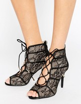 Forever Unique Rena Lace Heeled Sandal