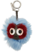 Fendi Blue Micro 'Bag Bugs' Keychain