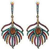 Butler & Wilson Butler and Wilson Multi Topaz Peacock Feather Earrings