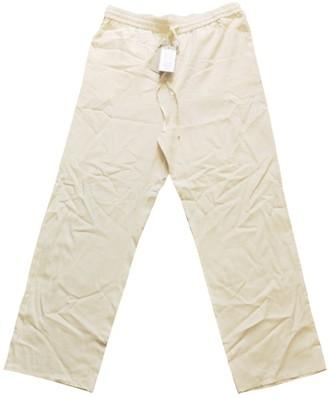 Cos Ecru Silk Trousers for Women