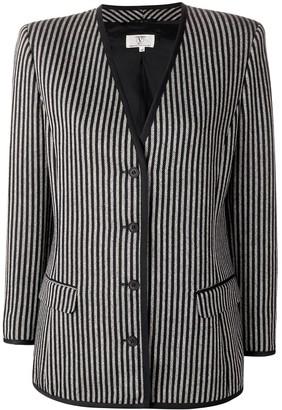 Valentino Pre-Owned 1980's Striped Slim Jacket