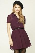 Forever 21 FOREVER 21+ Belted Pintuck Mini Dress