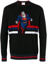 Iceberg Superman intarsia jumper - men - Cotton/Polyamide - M