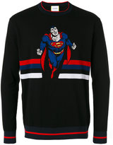 Iceberg Superman intarsia jumper - men - Cotton/Polyamide - S