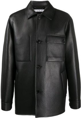 Acne Studios Classic Collar Lambskin Jacket