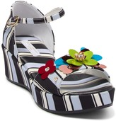 Dolce & Gabbana Stripe Floral Wedge Sandal (Toddler, Little Kid, & Big Kid)
