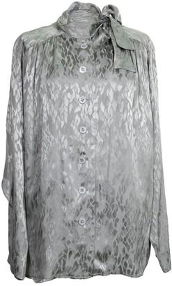 Saint Laurent Grey Silk Top for Women Vintage