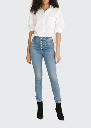 Veronica Beard Jeans Keiko Cotton Button-Down Top