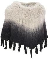 Wilsons Leather Womens Plus Size Fur Ombre Poncho