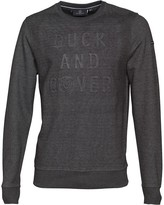 Duck and Cover Mens Linden Double Faced Crew Neck Sweatshirt Charcoal Marl