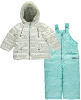 "Carter's Baby Girls' ""Digitized Snowflakes"" 2-Piece Snowsuit"