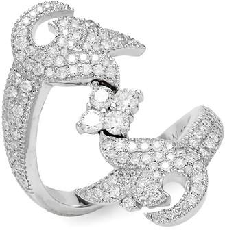 Sara Weinstock French Tulip 18K White Gold Diamond Ring