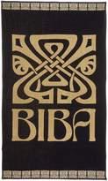 Biba Black logo beach towel