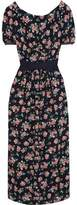 Mother of Pearl Zoe Open-Back Floral-Print Silk Midi Dress