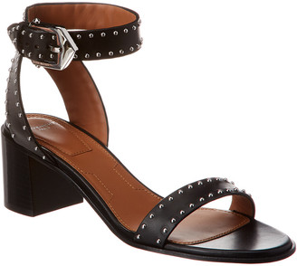 Givenchy Studded Leather Ankle Wrap Sandal