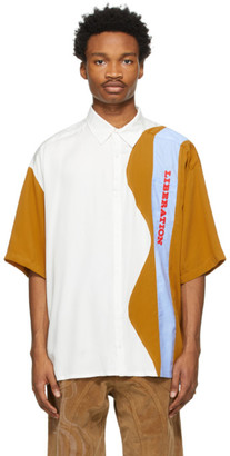 Ahluwalia White and Tan Liberation Short Sleeve Shirt
