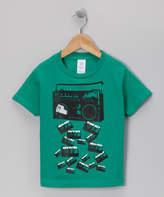 Micro Me Kelly Green Boom Box Falling Tee - Toddler & Boys
