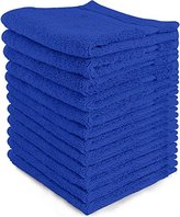 Ringspun Luxury Cotton Washcloths (12-Pack, Royal Blue, 12x12 Inches) - Easy Care, Fingertip Towels, Facial Towelettes, Cotton Hand Towels - by Utopia Towels