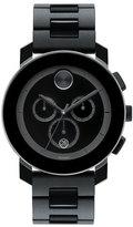 Movado Bold 43.5mm Bold Chronograph Watch, Black