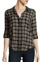 Saks Fifth Avenue Printed Long Sleeve Button-Down Shirt