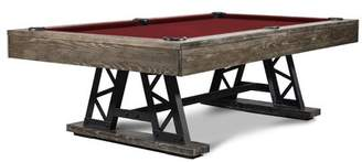 Nixon Blacksmith 8' Slate Pool Table With Professional Installation Included Billiards Felt Color: Burgundy