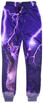 Uideazone Women Graphic Cute Cat Flare Sweatpants Casual Pants Pink