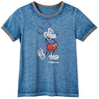 Disney Mickey Mouse Heathered Ringer T-Shirt for Women Walt World
