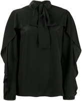 RED Valentino pussy bow frill-trimmed blouse
