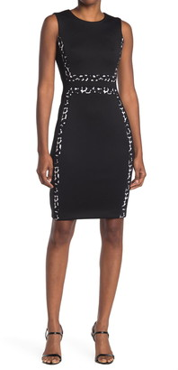 Calvin Klein Dot Trim Sheath Dress