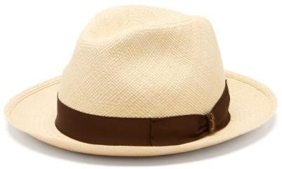 Borsalino Fellini Straw Panama Hat - Mens - Cream
