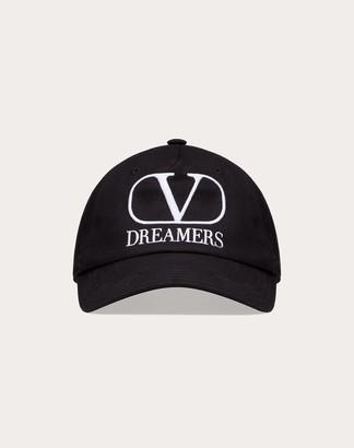 Valentino Garavani Uomo Vlogo Dreamers Baseball Cap Man Black/white 100% Cotone 57